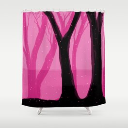 Magical Forest in Pink Shower Curtain