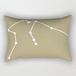 Aquarius (White & Sand) Rectangular Pillow