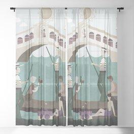 Venice Italy 3 Sheer Curtain