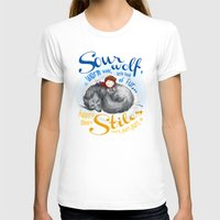stiles T-shirts featuring Sterek Sleepy Wolf & Stiles I by siny