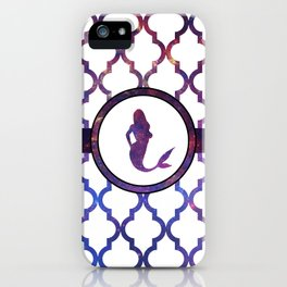 Mermaids: Galaxy Moroccan Pattern iPhone Case