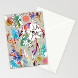 Purple Novice Watercolor Collage Stationery Cards