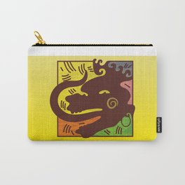 Man with long tongue. Carry-All Pouch
