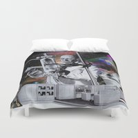 weird Duvet Covers featuring Weird Science by TRASH RIOT