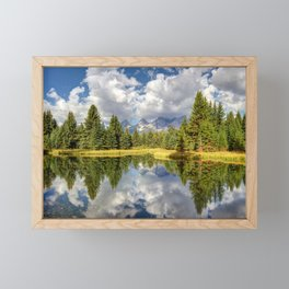 The Grand Tetons Panorama Framed Mini Art Print