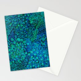Peacock Watercolor Painting Stationery Cards