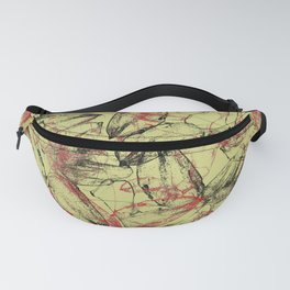 Whirlwind of petals beige Fanny Pack