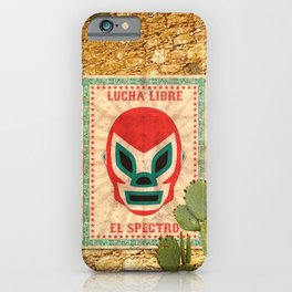 El Spectro - Lucha Libre iPhone Case