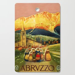 Vintage Abruzzo Italy Travel Cutting Board