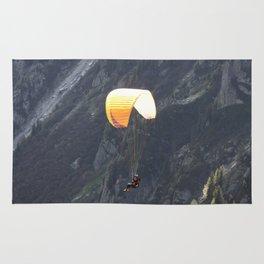 Parachute in Chamonix Rug