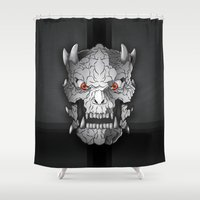 demon Shower Curtains featuring Demon by Luca Giobbe