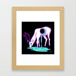 Drippy Deer Framed Art Print