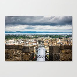 View of Edinburgh, Scotland from Edinburgh Castle Canvas Print