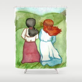 Anne and Diana Shower Curtain