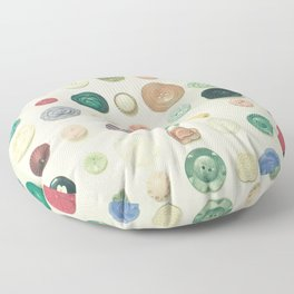 The Button Collection Floor Pillow