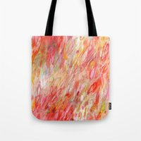 rush Tote Bags featuring Rush by Jessica Torrant