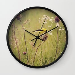 Life in the Meadow Wall Clock
