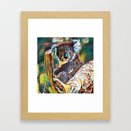 Monkey Bear Geometry | Painting Framed Art Print