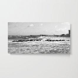 à la plage Metal Print