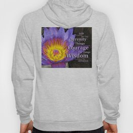 Serenity Prayer With Lotus Flower By Sharon Cummings Hoody
