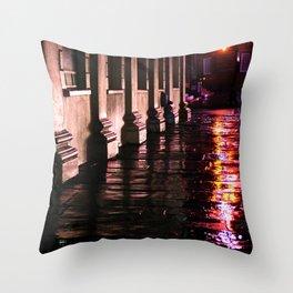 Purple Street Corner Throw Pillow