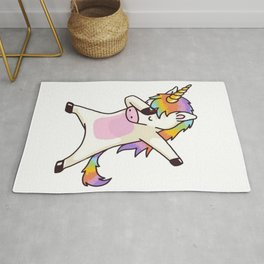 Dabbing Unicorn Shirt Hip Hop Dap Pose Rug