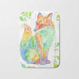Fox & Leaves Bath Mat