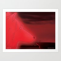The Red Wolf Art Print