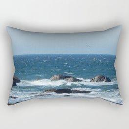 Bird over the Circle of Rocks Rectangular Pillow