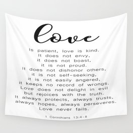 Love Never Fails #minimalism Wall Tapestry