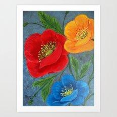 Poppies-3 Art Print