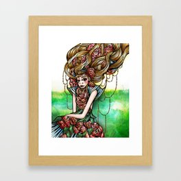 Astrology Illustration Series-Virgo Framed Art Print