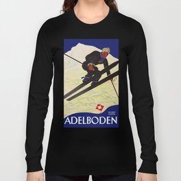 Vintage Adelboden Switzerland - Ski Jump Long Sleeve T-shirt