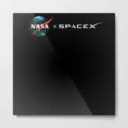 Nasa X SpaceX Metal Print