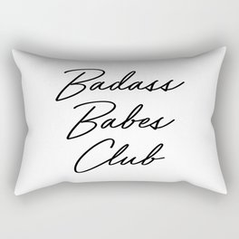 Badass Babes Club 2 Rectangular Pillow