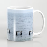 cape cod Mugs featuring Gull's Perch, Cape Cod by JezRebelle