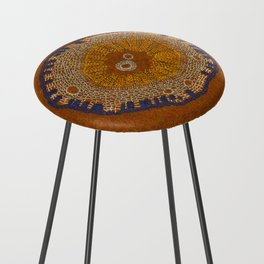 Growing - ginkgo - plant cell embroidery Counter Stool
