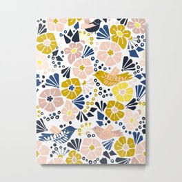 Wellness garden – florals matching to design for a happy life Metal Print