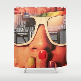 Retro Girl Shower Curtain