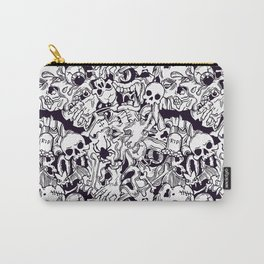 BW Halloween horror pattern Carry-All Pouch