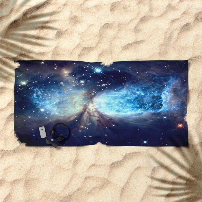 A Star is Born Teal Beach Towel