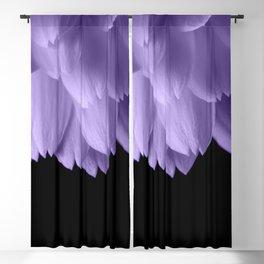 Ultra violet purple flower petals black Blackout Curtain