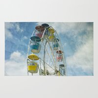 ferris wheel Area & Throw Rugs featuring Ferris Wheel by Mary Kilbreath