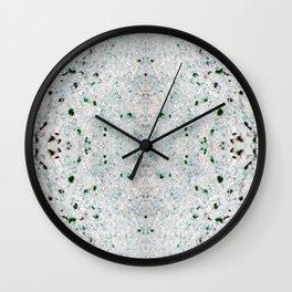 white&black marble mix Wall Clock