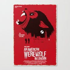 An American Werewolf (Red Collection) Canvas Print