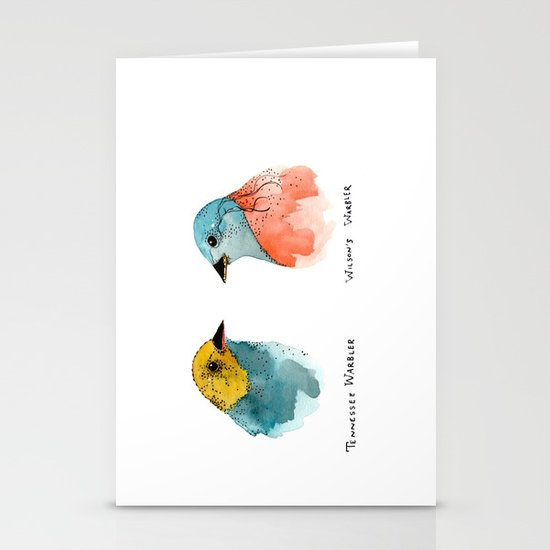TWO WARBLERS Stationery Cards