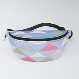 Colorful Pyramids Floating In the Blue Sky Pattern Fanny Pack