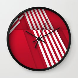 Optical illusion_red Wall Clock