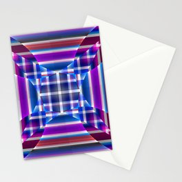 Modern geometric pattern, fractal abstract Stationery Cards