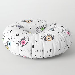 Spiritual Luck Eyes Pattern Floor Pillow